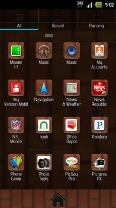 Modern Wood Go Launcher Android Theme Image 2