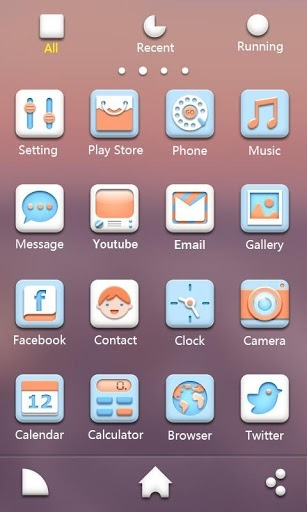 Soft Go Launcher Android Theme Image 2