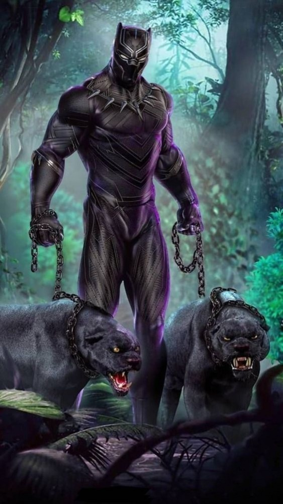 Black Panther Android Wallpaper Image 1
