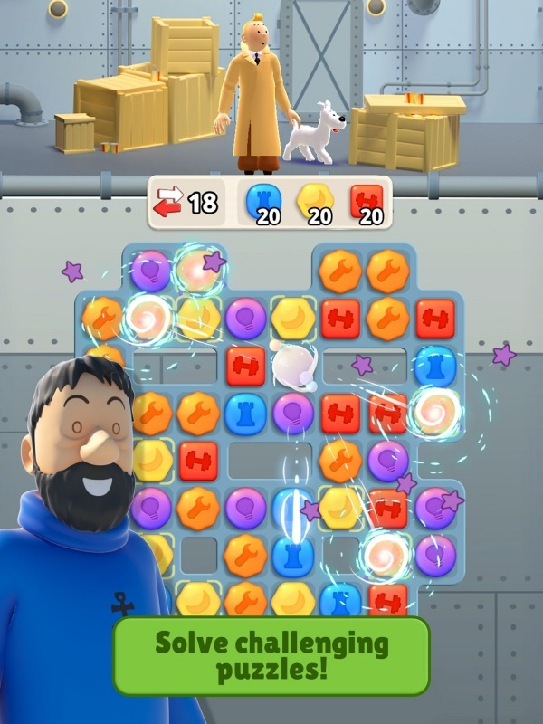 Tintin Match Android Game Image 3