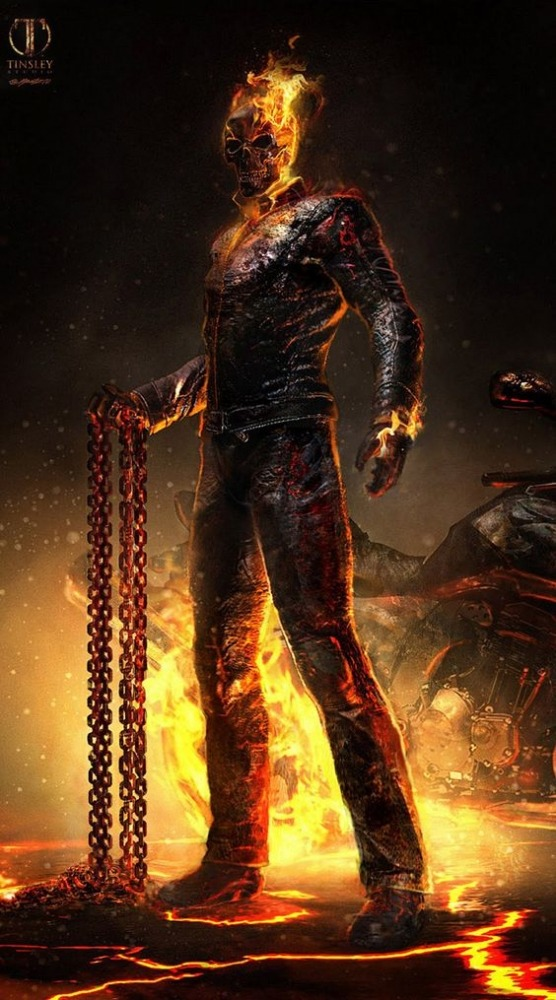 Ghost Rider Android Wallpaper Image 1