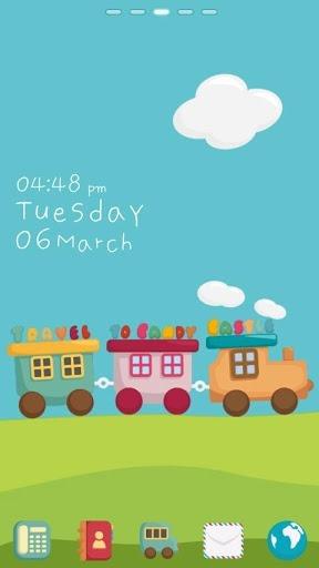 Mini Train Go Launcher Android Theme Image 1