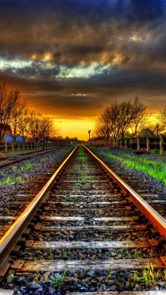 Railway Track Android Wallpaper Image 1