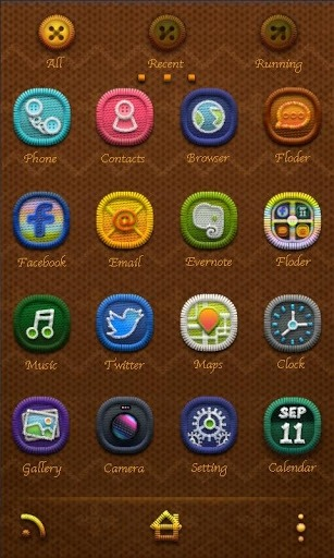 W-Stitchknff Go Launcher Android Theme Image 2