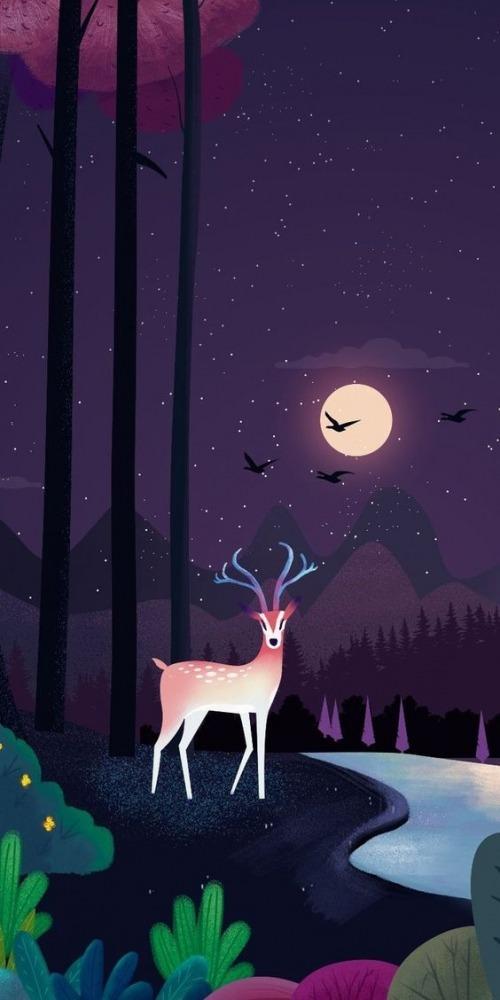 Deer Mobile Phone Wallpaper Image 1