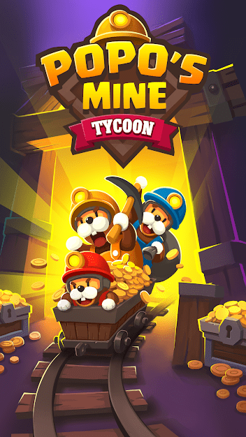 Popo's Mine - Idle Tycoon Game Android Game Image 1