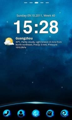 Blue Planet Go Launcher Android Theme Image 1