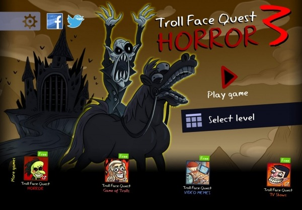 Troll Face Quest: Horror 3 Android Game Image 1