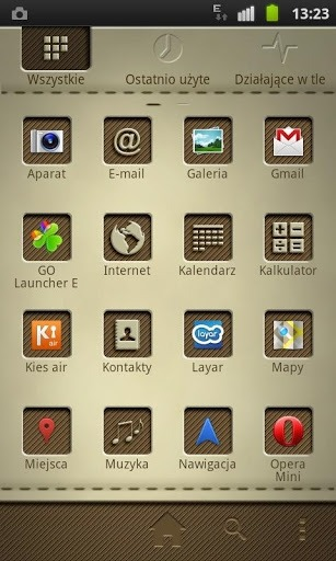 Leathery Go Launcher Android Theme Image 2