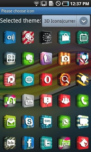 3D Icons Go Launcher Android Theme Image 2
