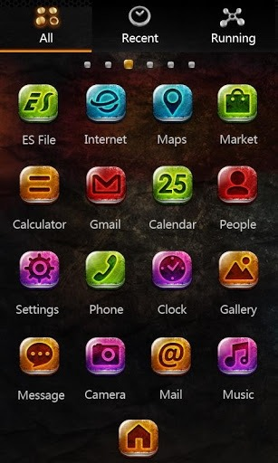 Metal Go Launcher Android Theme Image 2