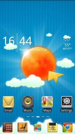 Sun And Sky Go Launcher Android Theme Image 1