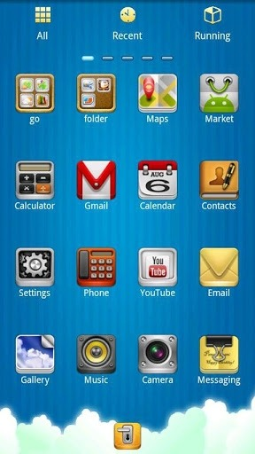 Sun And Sky Go Launcher Android Theme Image 2