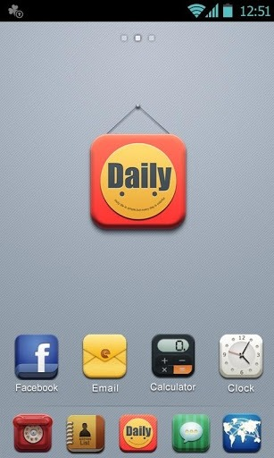 D-Daily Go Launcher Android Theme Image 1