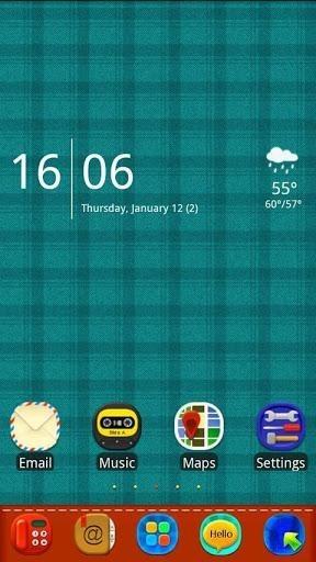 Plaid Complex Go Launcher Android Theme Image 1