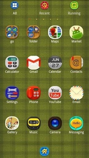 Plaid Complex Go Launcher Android Theme Image 2