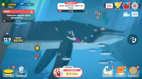 Dream Blue Ocean Android Game Image 3