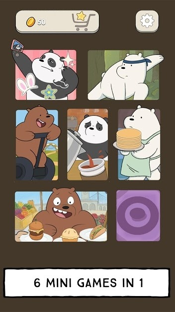 We Bare Bears - Free Fur All: Mini Game Arcade Android Game Image 1
