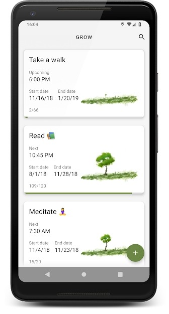 Grow - Habit Tracking Android Application Image 2