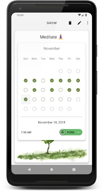 Grow - Habit Tracking Android Application Image 3
