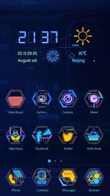 Techno Robots Hola Launcher Android Theme Image 1