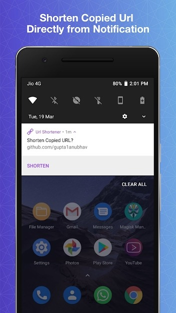 URL Shortener Android Application Image 2