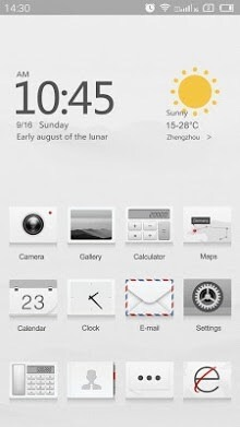 Cream White Hola Launcher Android Theme Image 1