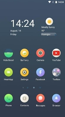 Circular Hola Launcher Android Theme Image 1