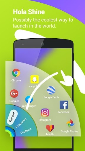 Hola Launcher Android Application Image 1