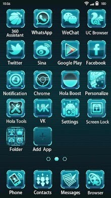 Future Tech Hola Launcher Android Theme Image 2