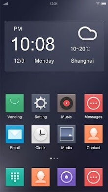 The Night Hola Launcher Android Theme Image 1