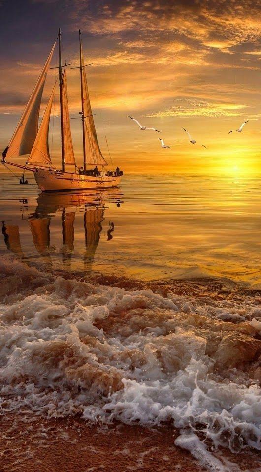 Boat Mobile Phone Wallpaper Image 1