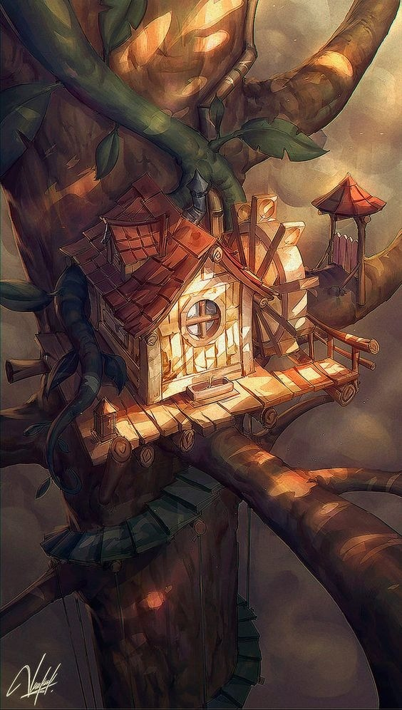 Tree House Android Wallpaper Image 1