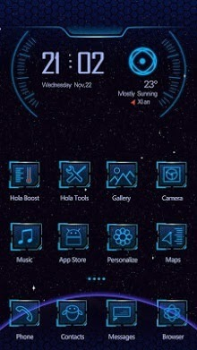 Off To Space Hola Launcher Android Theme Image 1