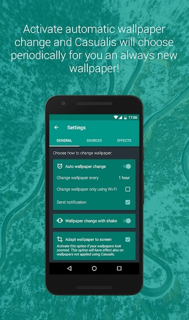 Casualis: Auto Wallpaper Change Android Application Image 3