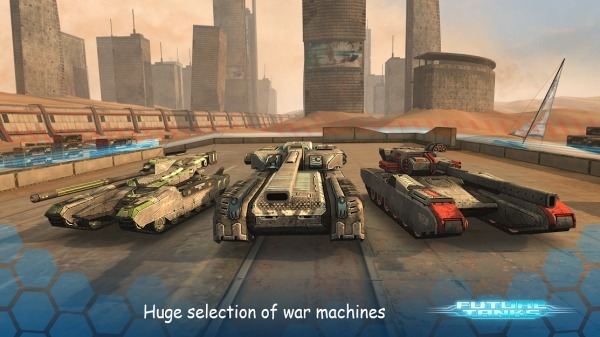Future Tanks: Action Army Tank Games Android Game Image 1
