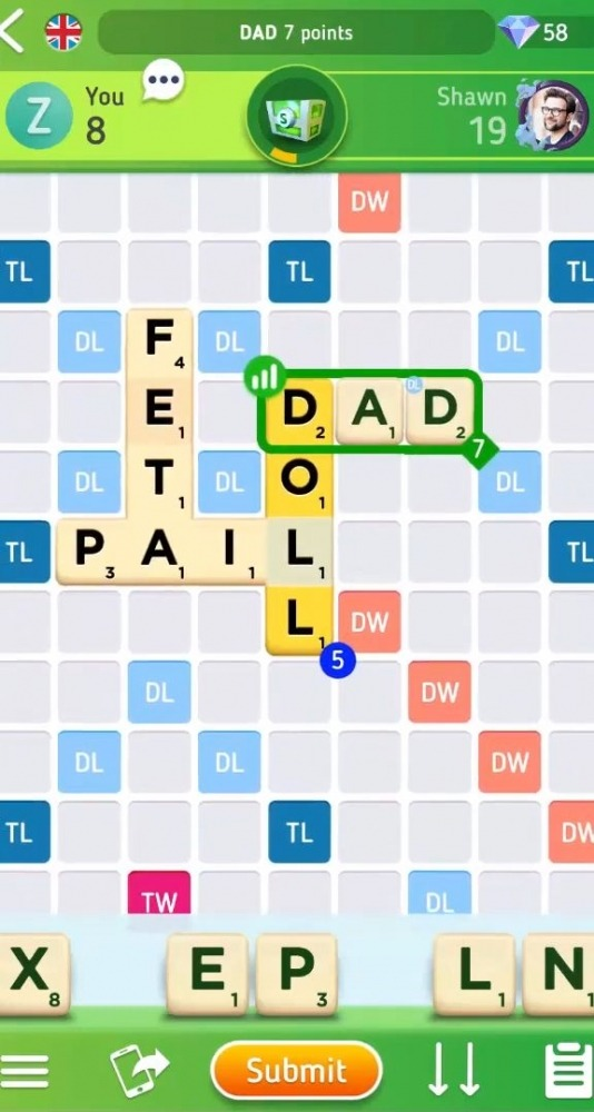 Scrabble GO - New Word Game Android Game Image 2