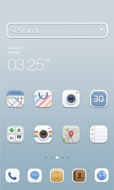 Soft Button Dodol Launcher Android Theme Image 1