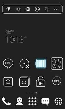 Super Simple Black Dodol Launcher Android Theme Image 1