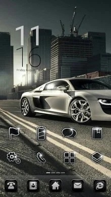 CityRacing Dodol Launcher Android Theme Image 1