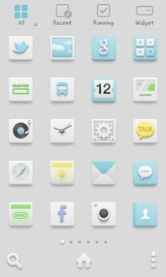 Milky Sky Dodol Launcher Android Theme Image 2
