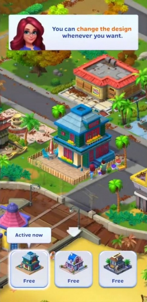 Match Town Makeover: Your Town Is Your Puzzle Android Game Image 1