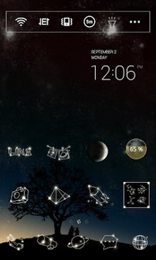 The Stars Voice Dodol Launcher Android Theme Image 1