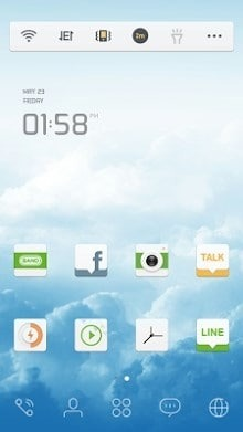 Sky Dream Dodol Launcher Android Theme Image 1