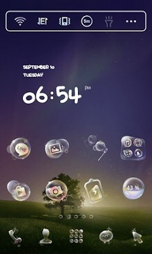 Soap Bubble Dodol Launcher Android Theme Image 1
