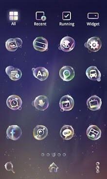 Soap Bubble Dodol Launcher Android Theme Image 2