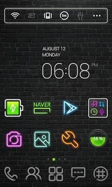 Neon Sign Dodol Launcher Android Theme Image 1