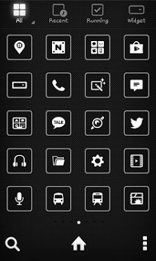Black Label Dodol Launcher Android Theme Image 2
