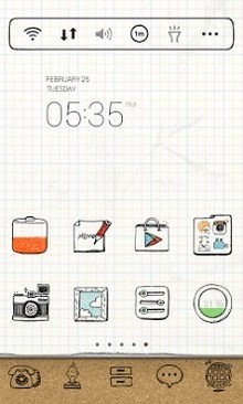 Drawing Note Dodol Launcher Android Theme Image 1