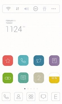 Line Grid Dodol Launcher Android Theme Image 1
